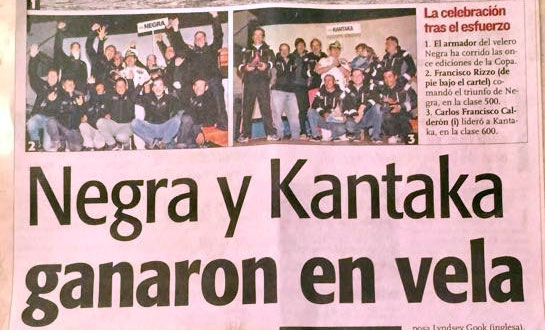 "Veleros ""NEGRA"" y ""KANTAKA"" Ganaron en Vela"