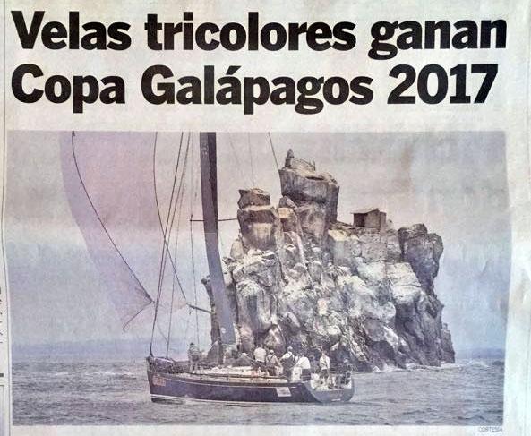 Velas tricolores ganan COPA GALÁPAGOS 2017